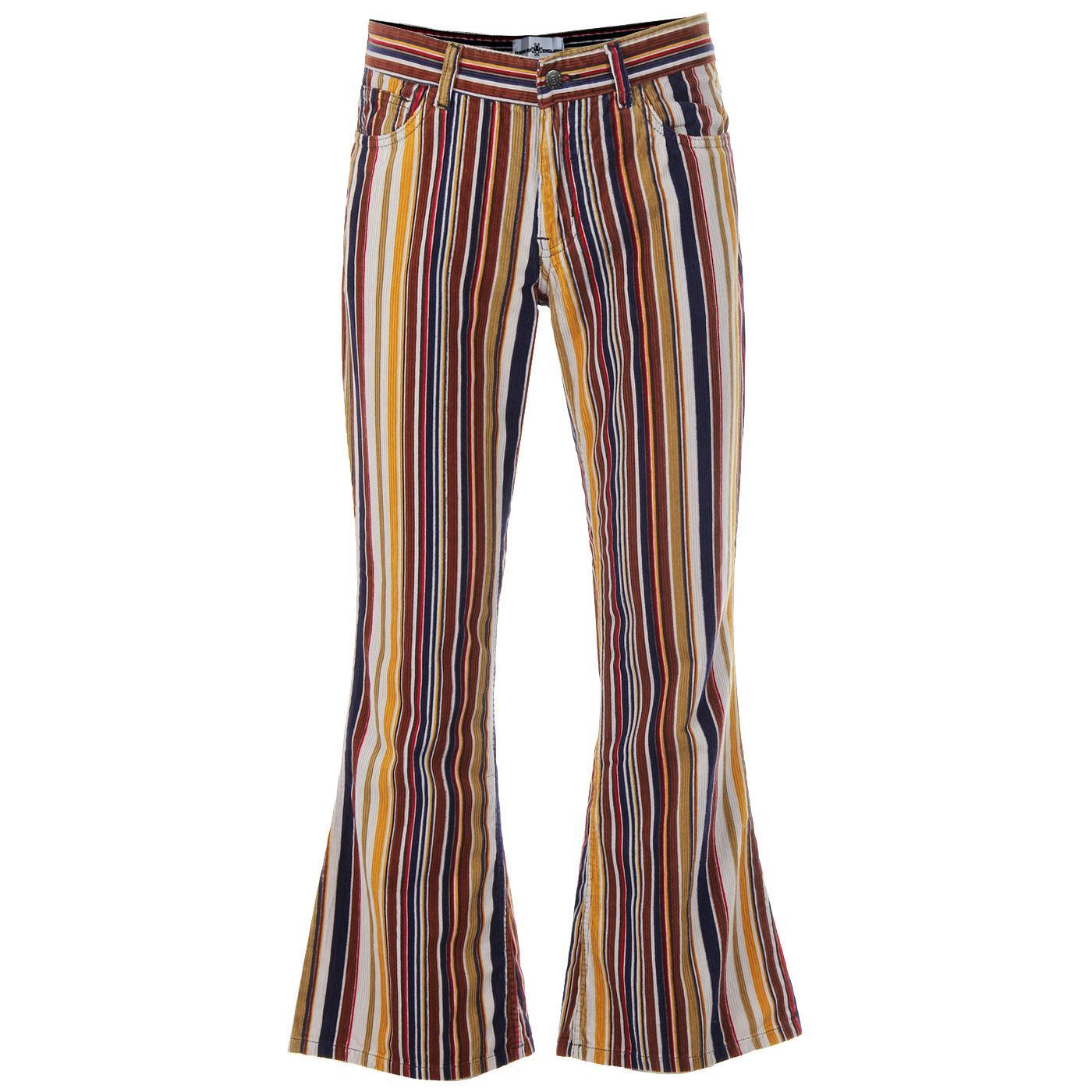 Killer Stripe MADCAP ENGLAND Retro 70s Cord Flares