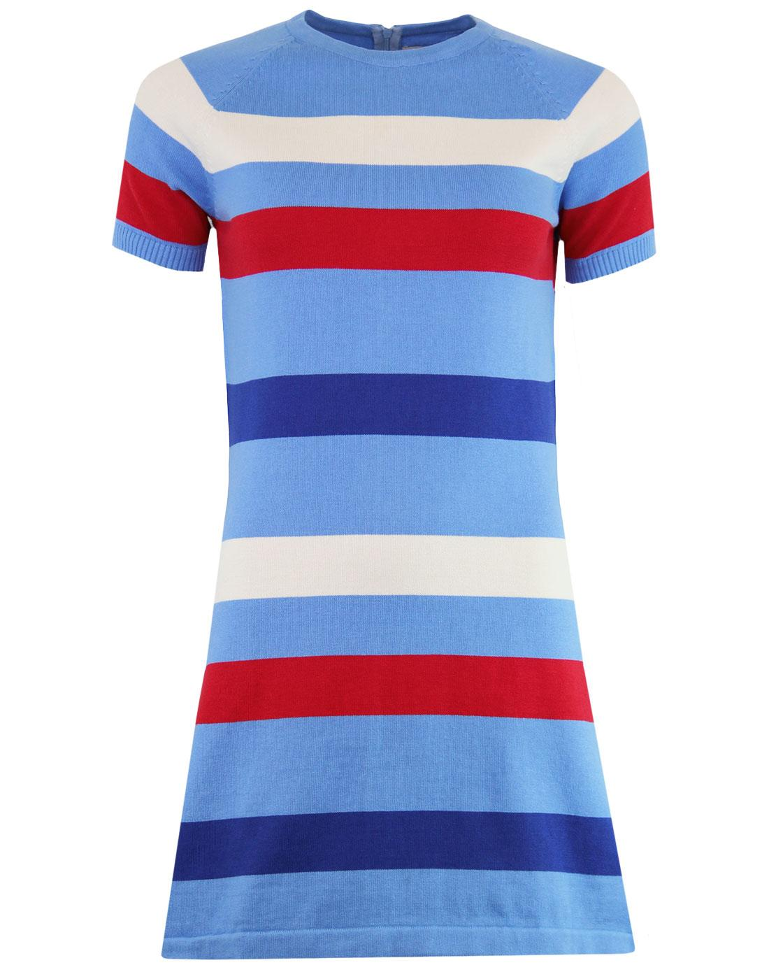 Polly MADCAP ENGLAND 60s Mod Stripe Knitted Dress