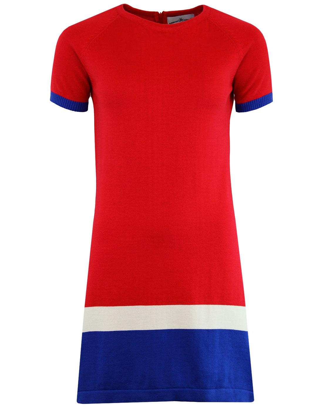 Jenny MADCAP ENGLAND 60s Mod Block Colour Dress