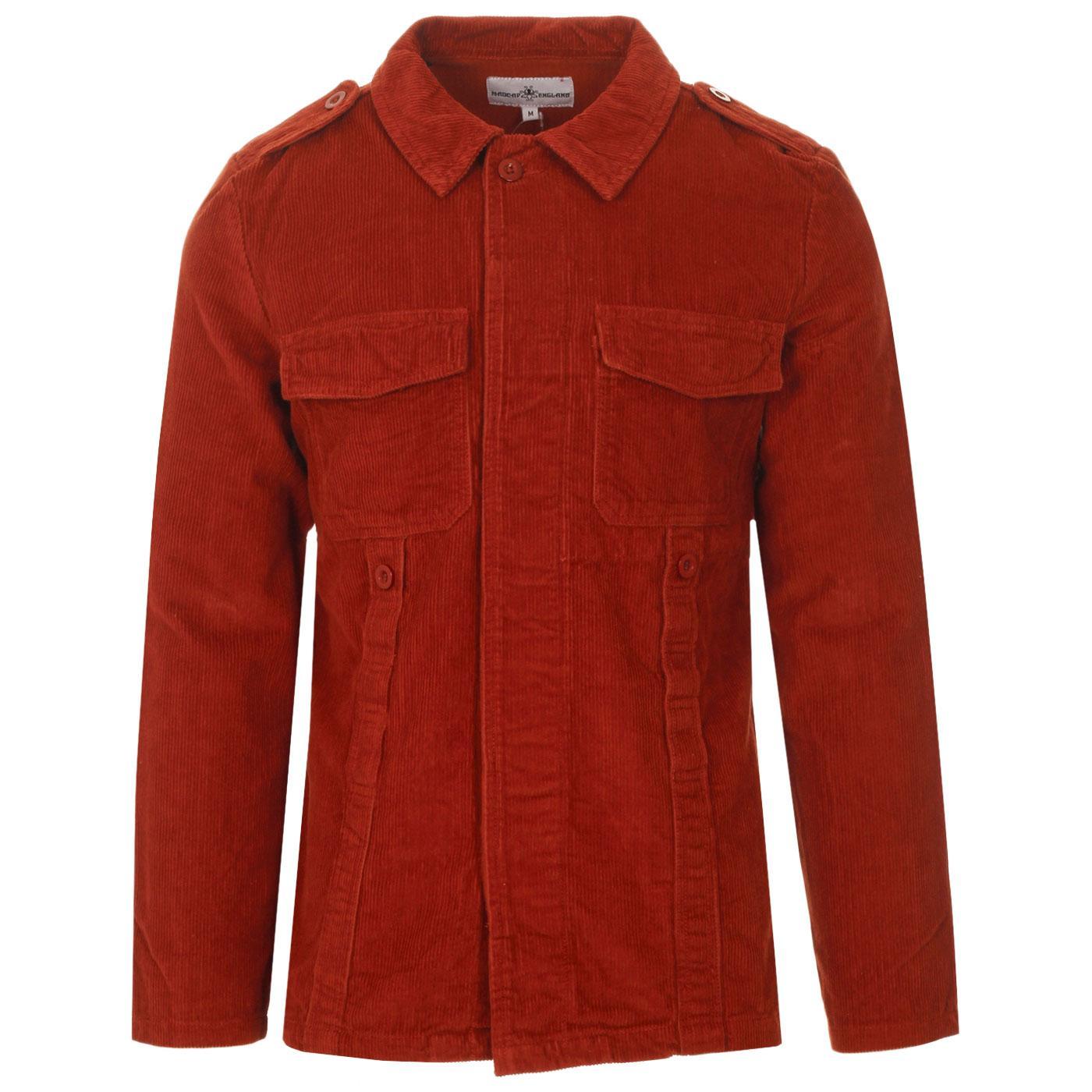 Lennon MADCAP ENGLAND Mod Cord Shirt Jacket (Rust)