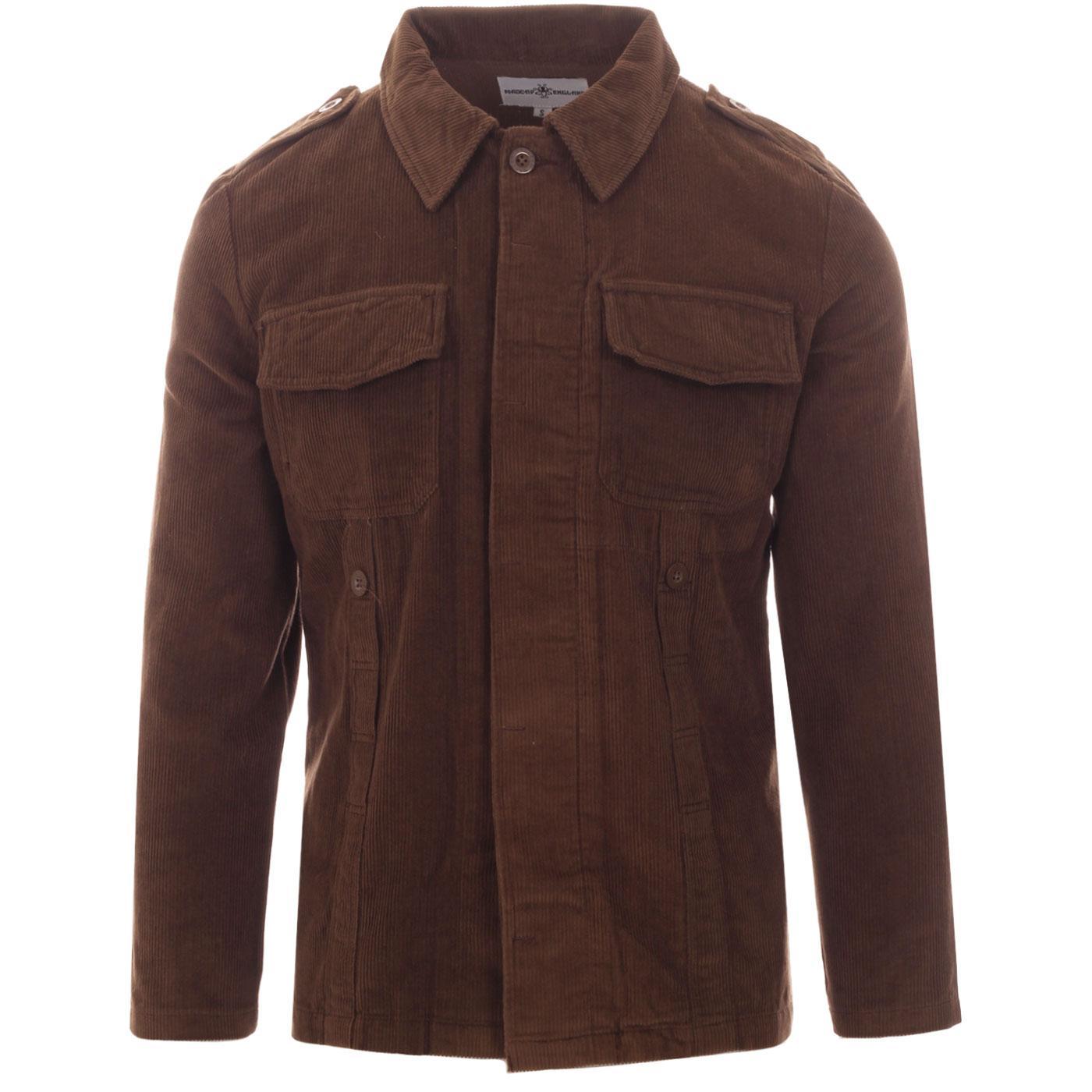Lennon MADCAP ENGLAND Mod Cord Shirt Jacket COCOA