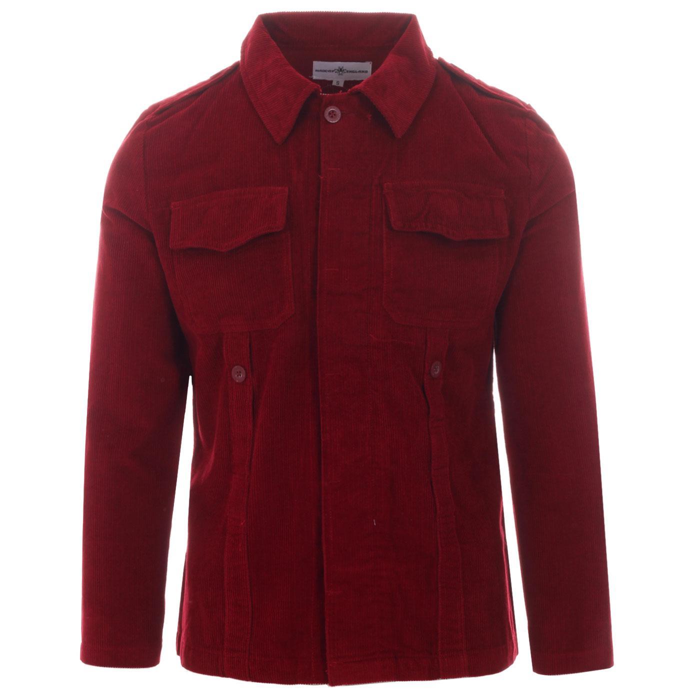 Lennon MADCAP ENGLAND Mod Cord Shirt Jacket (Port)