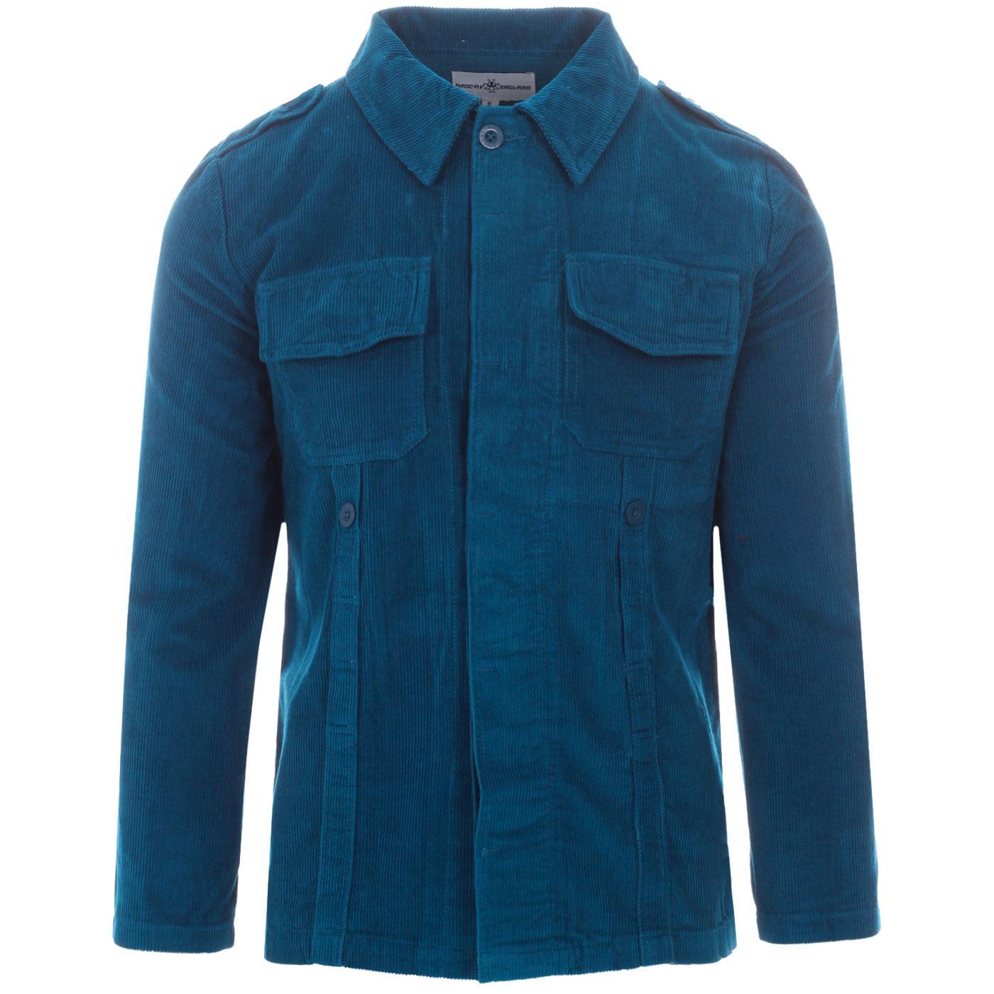 Lennon MADCAP ENGLAND Mod Cord Shirt Jacket (Ink)