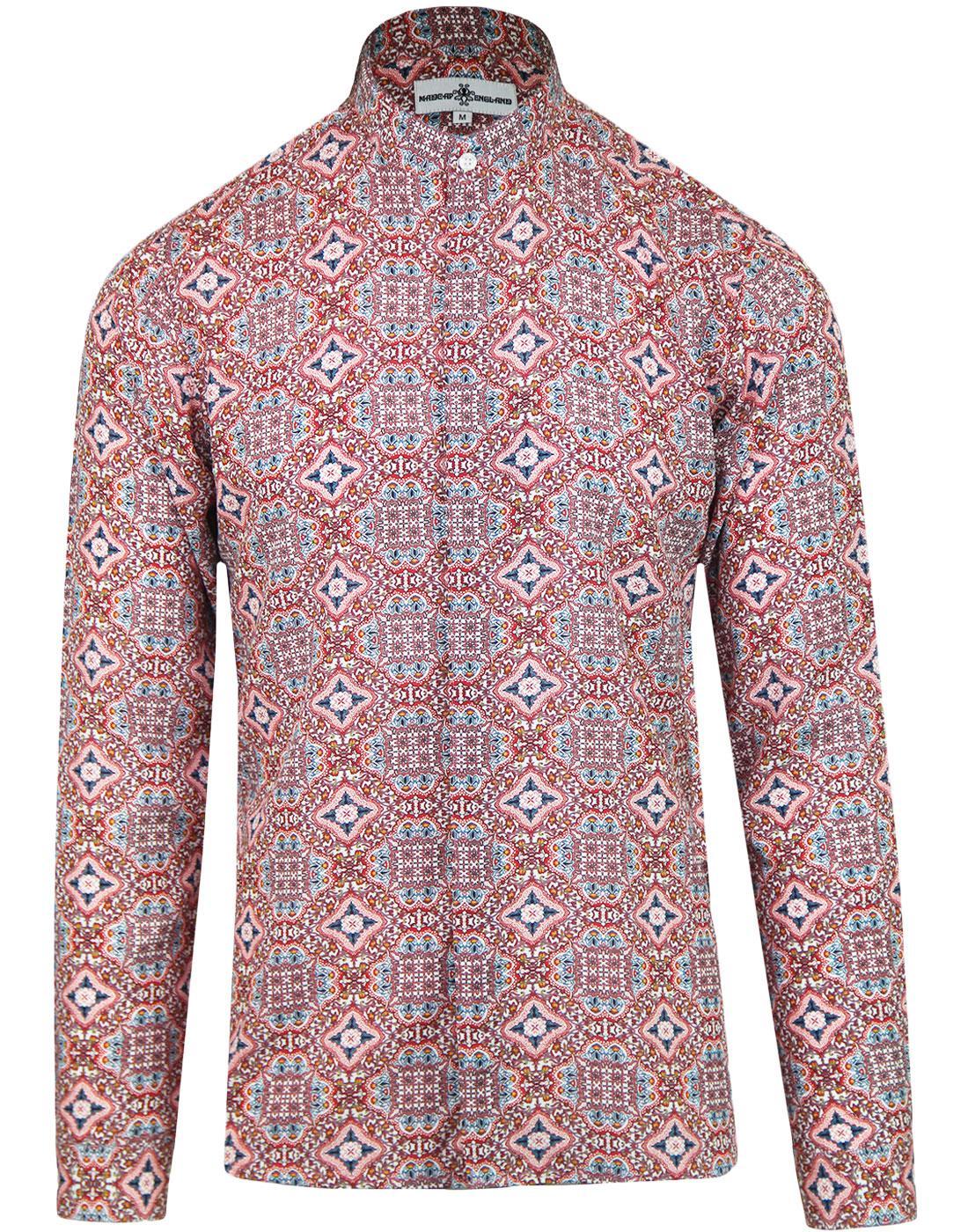 Lotus Floral MADCAP ENGLAND Grandad Collar Shirt