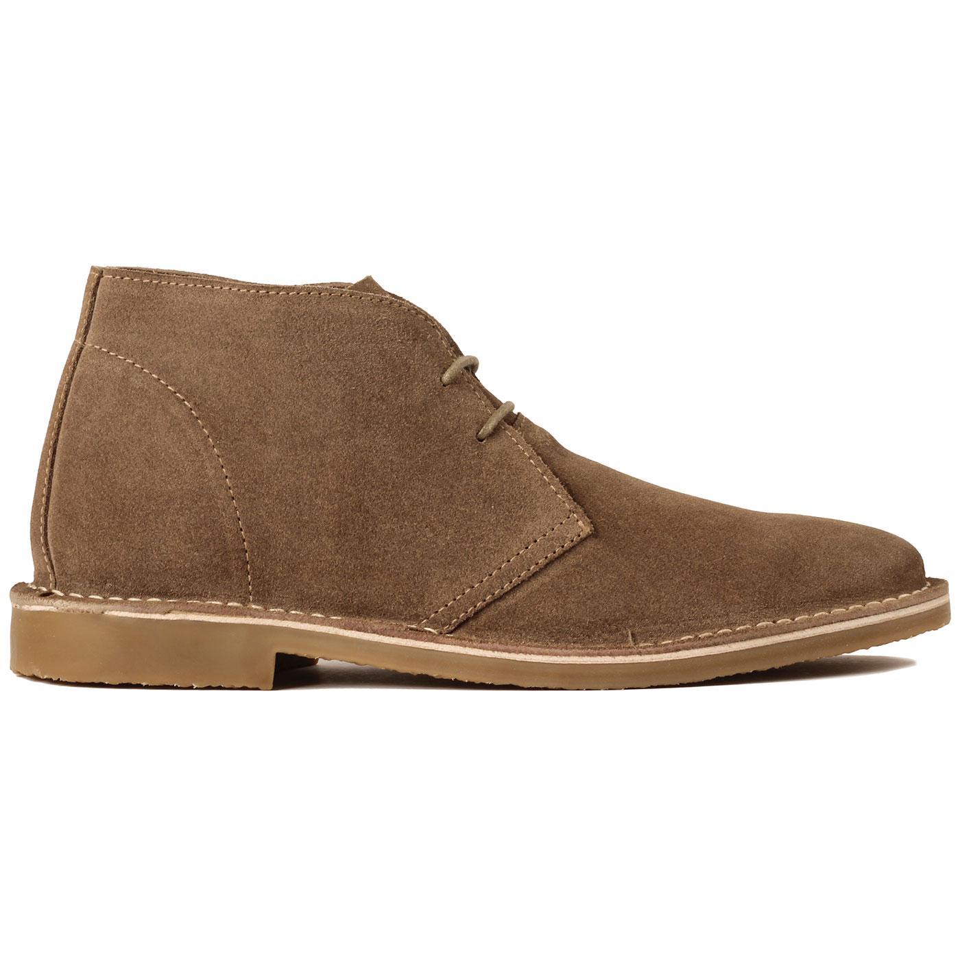Meaden MADCAP ENGLAND Mod Suede Desert Boots BROWN