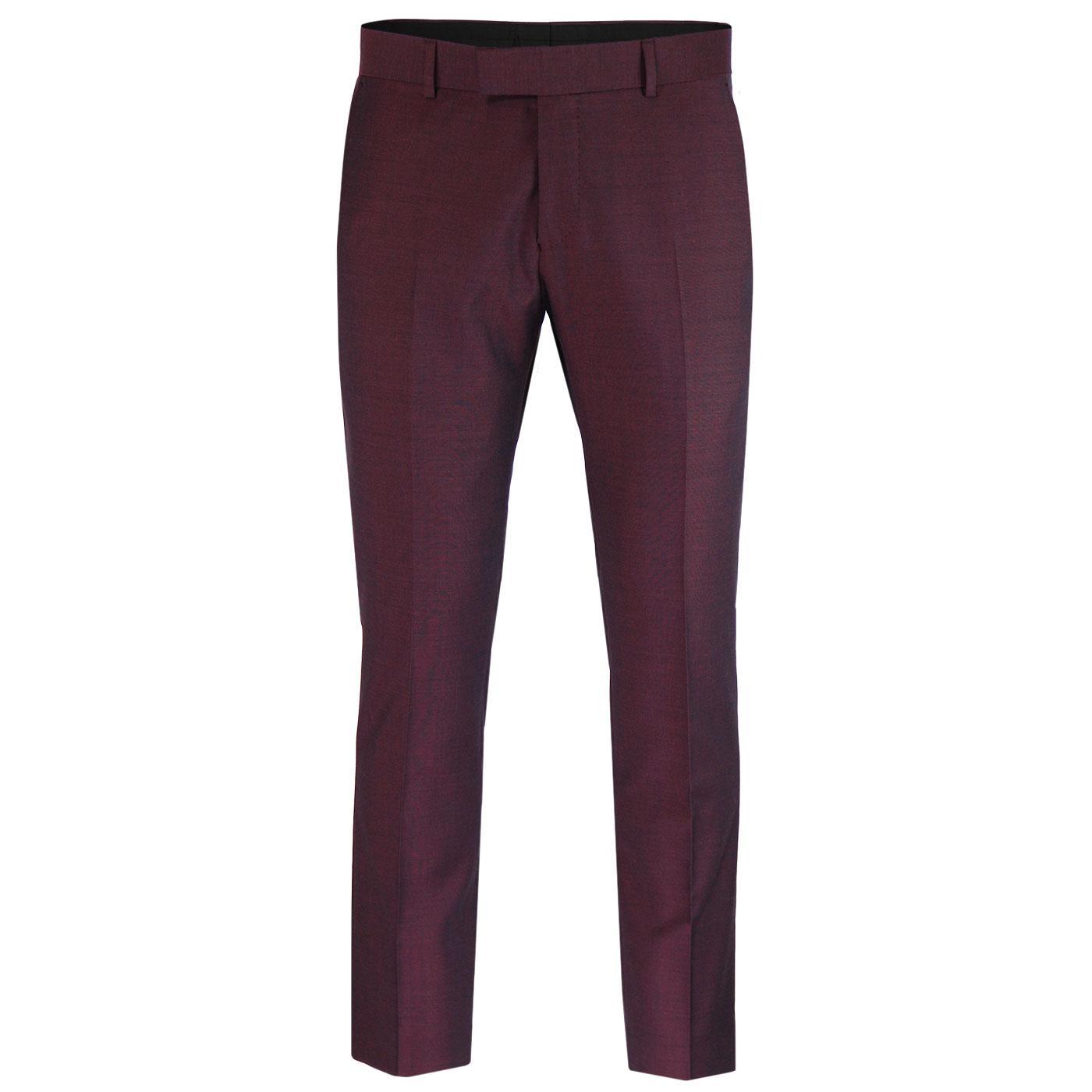 MADCAP ENGLAND Mod Mohair Tonic Trousers BURGUNDY