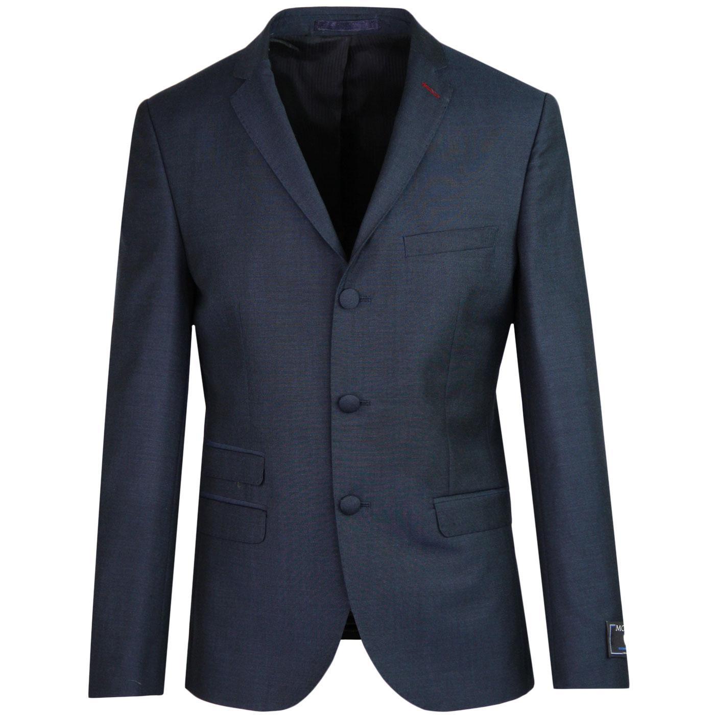 MADCAP ENGLAND Mod Mohair Tonic Suit Jacket (Navy)