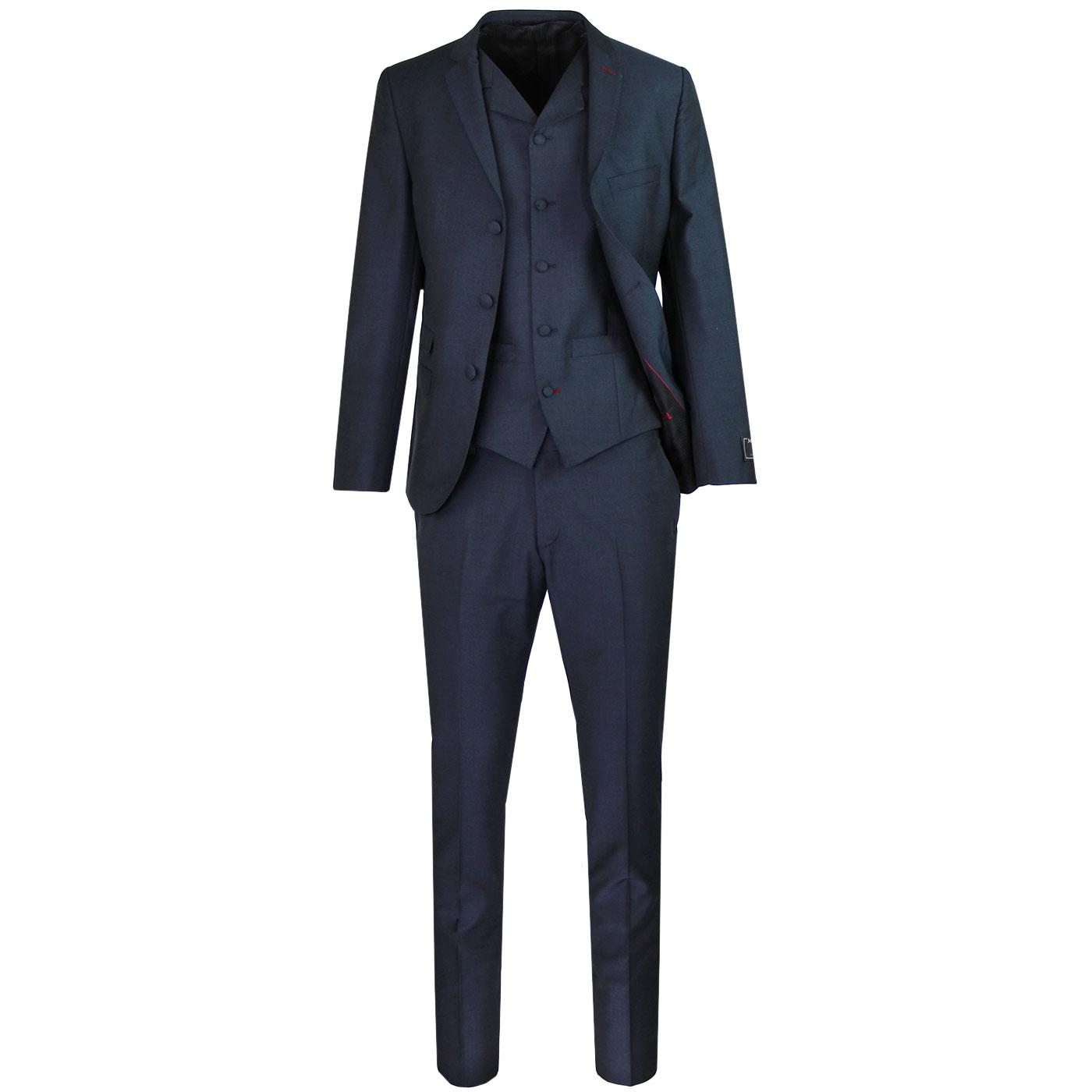 MADCAP ENGLAND 60s Mod Mohair Suit in Navy Tonic