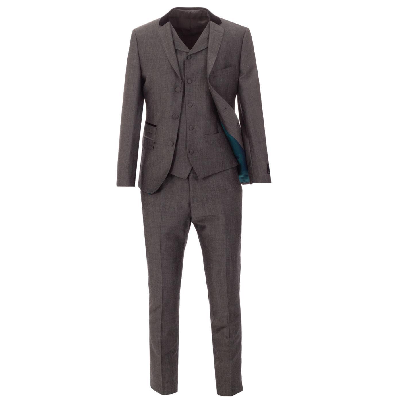 MADCAP ENGLAND 60s Mod 2/3 Piece Suit in Silver