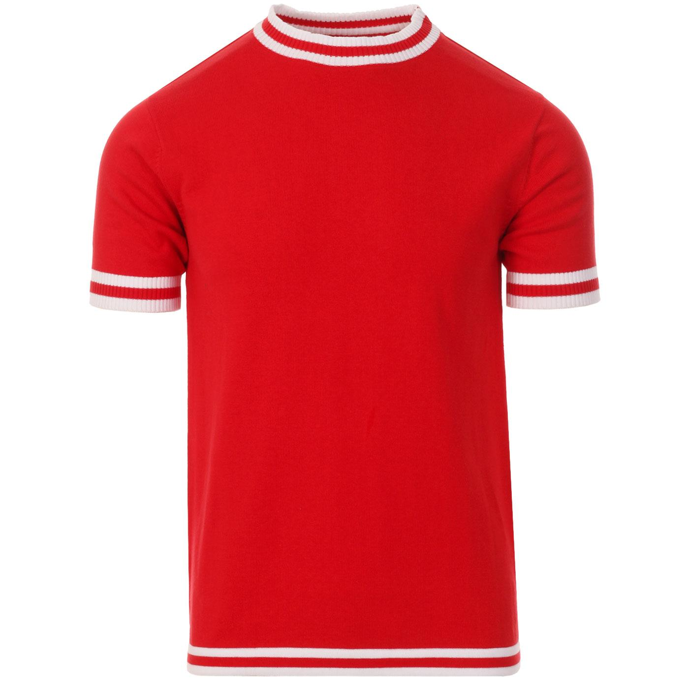 Moon MADCAP ENGLAND 60s Mod Tipped Knit Tee (TR)
