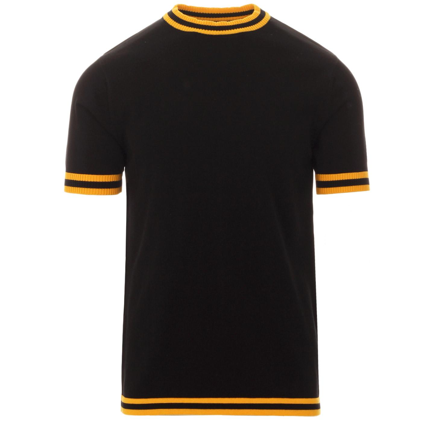 Moon MADCAP ENGLAND 60s Mod Tipped Knit Tee (B/Y)
