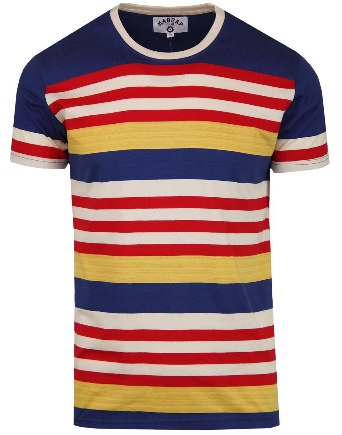 Cosmo MADCAP ENGLAND Retro 1970s Stripe T-shirt