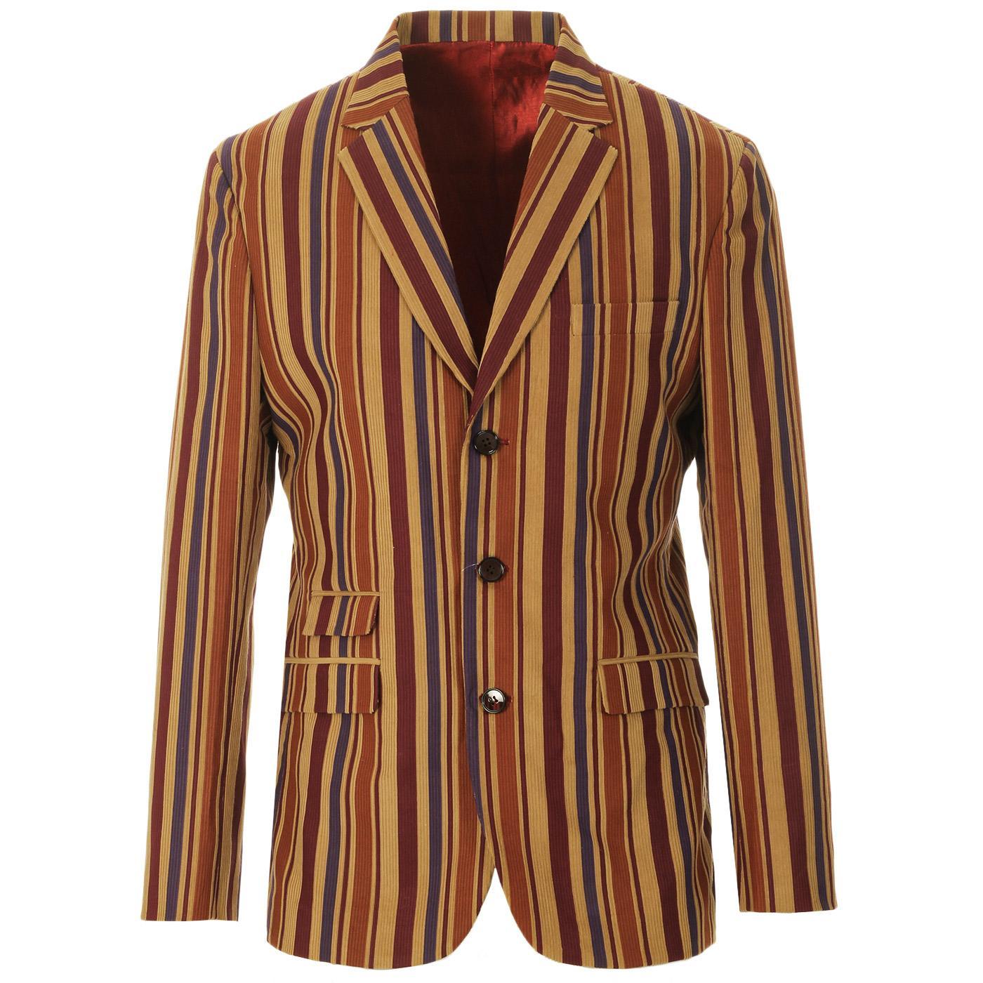 Offbeat Cord MADCAP ENGLAND Mod Stripe Blazer (C)