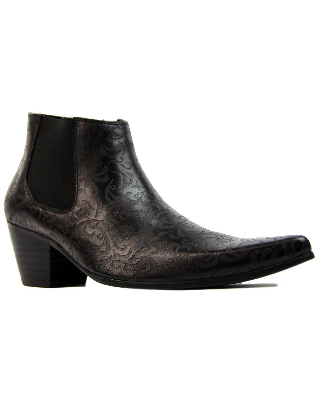 Vinnie MADCAP ENGLAND Paisley Cuban Chelsea Boots