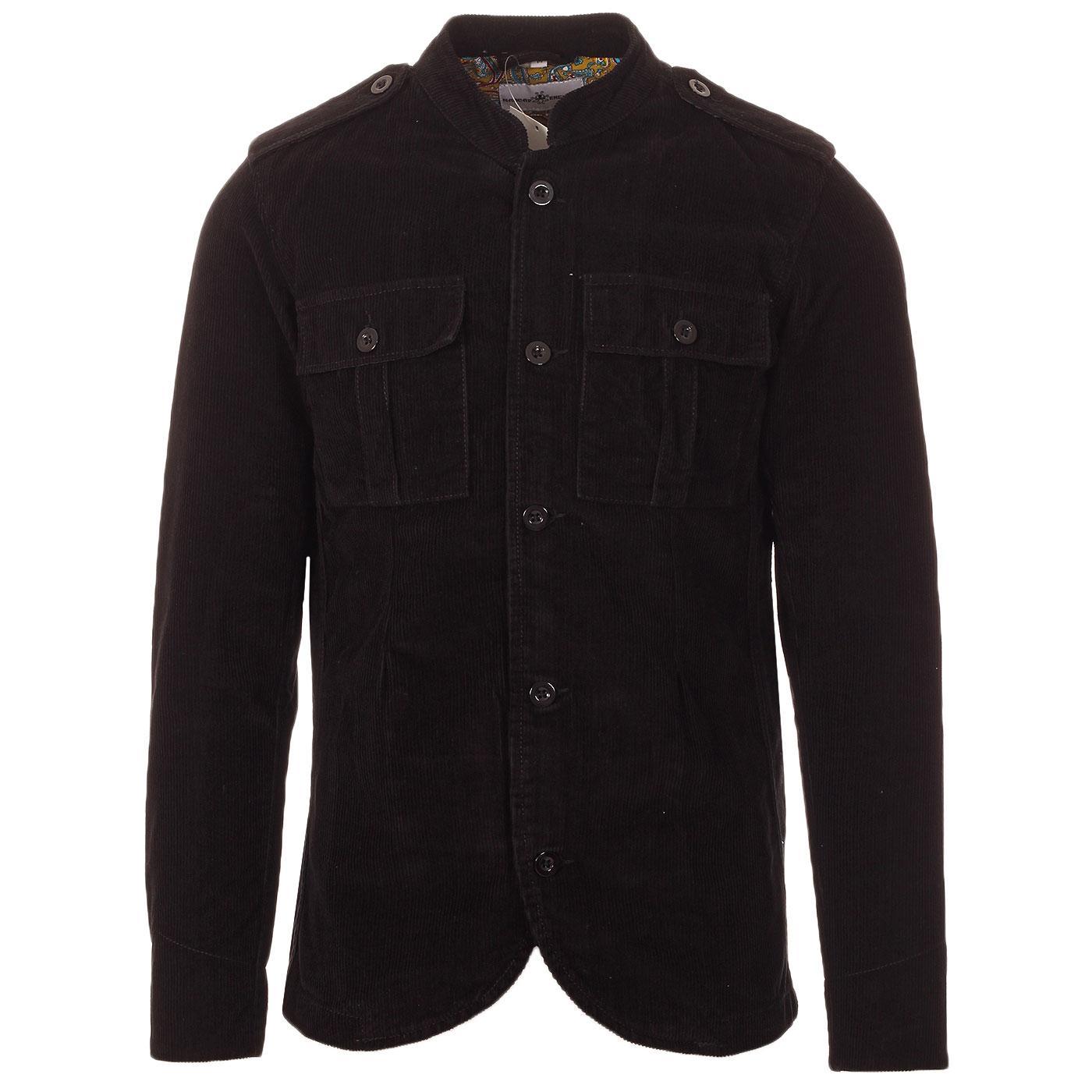 Pepper MADCAP ENGLAND Mod Cord Tunic Jacket BLACK
