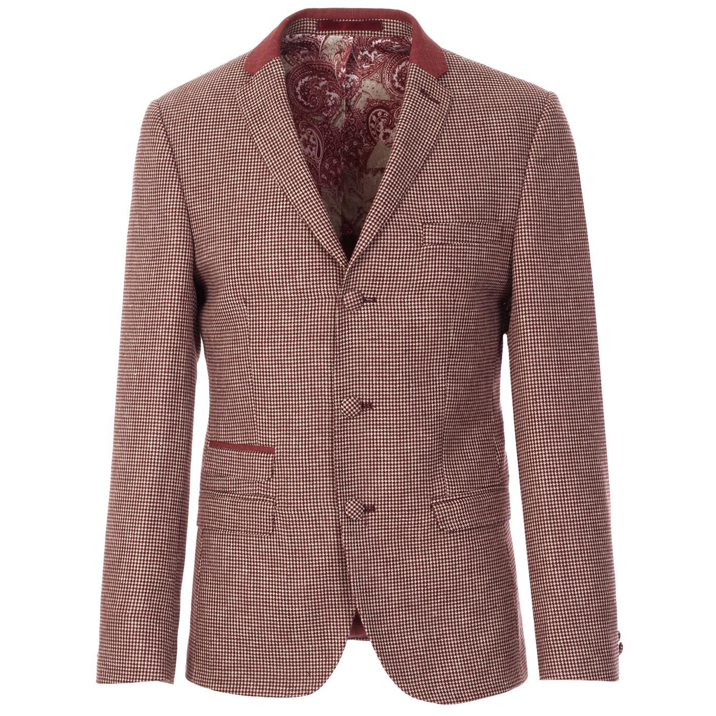 MADCAP ENGLAND Mod 3 Button Dogtooth Suit Jacket