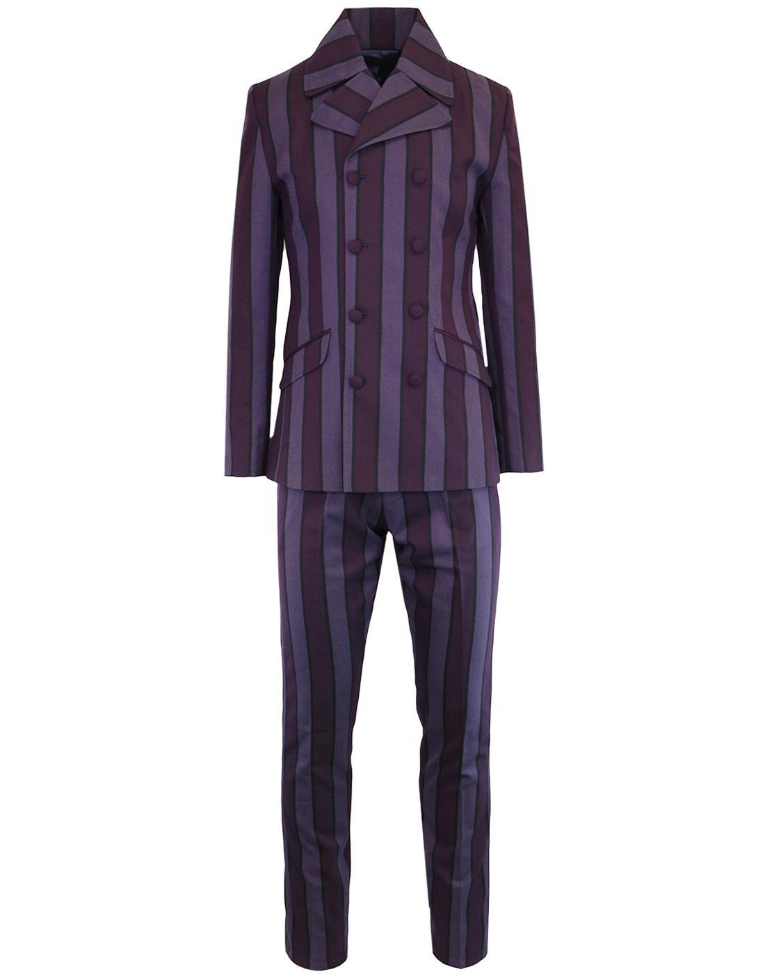 MADCAP ENGLAND Backbeat Mod 60s Slim Suit - Purple