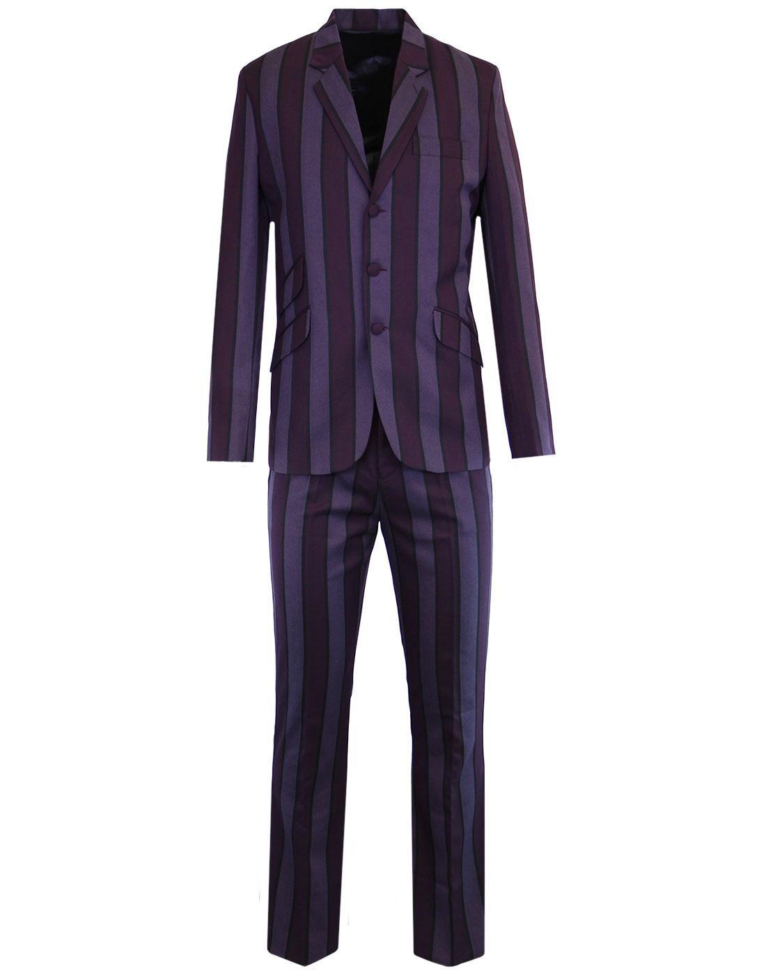 MADCAP ENGLAND Offbeat Mod 60s Slim Suit in Purple