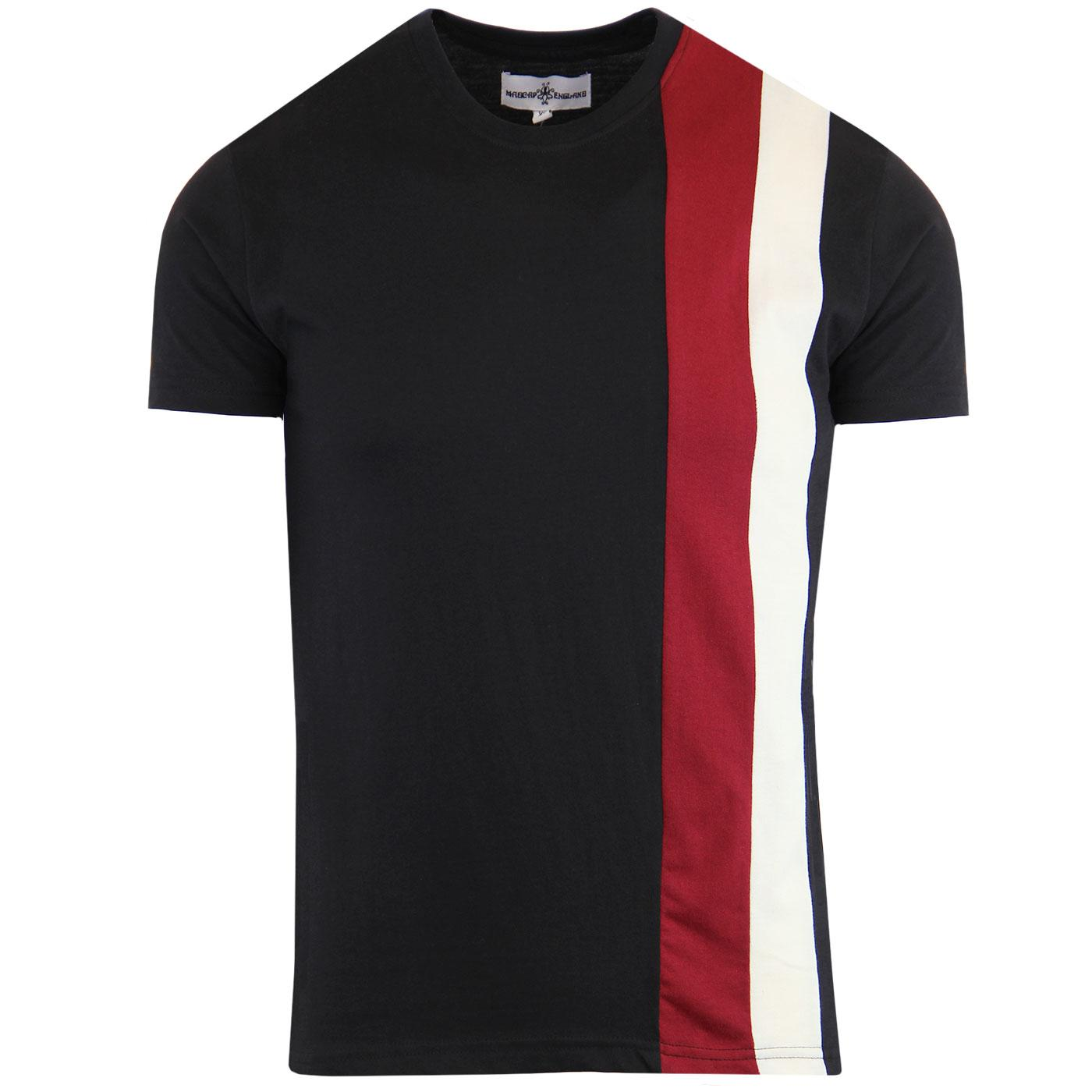 Ogden MADCAP ENGLAND Mod Side Stripe Panel Tee (B)