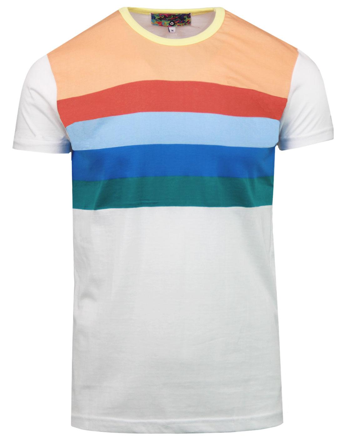 Titan MADCAP ENGLAND Retro Rainbow Stripe T-shirt