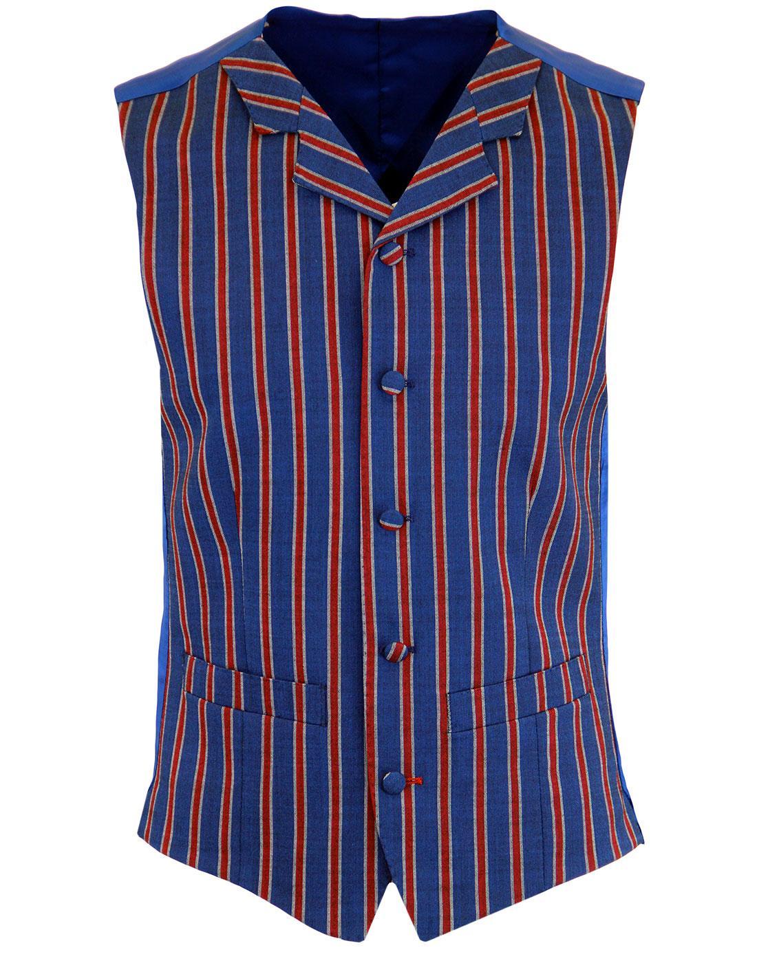 MADCAP ENGLAND Mod Regatta Stripe Lapel Waistcoat