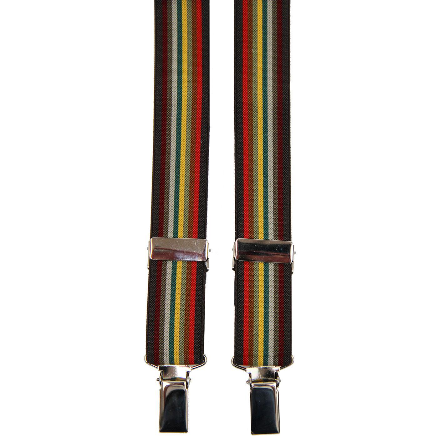 MADCAP ENGLAND Made in England Multi Stripe Braces