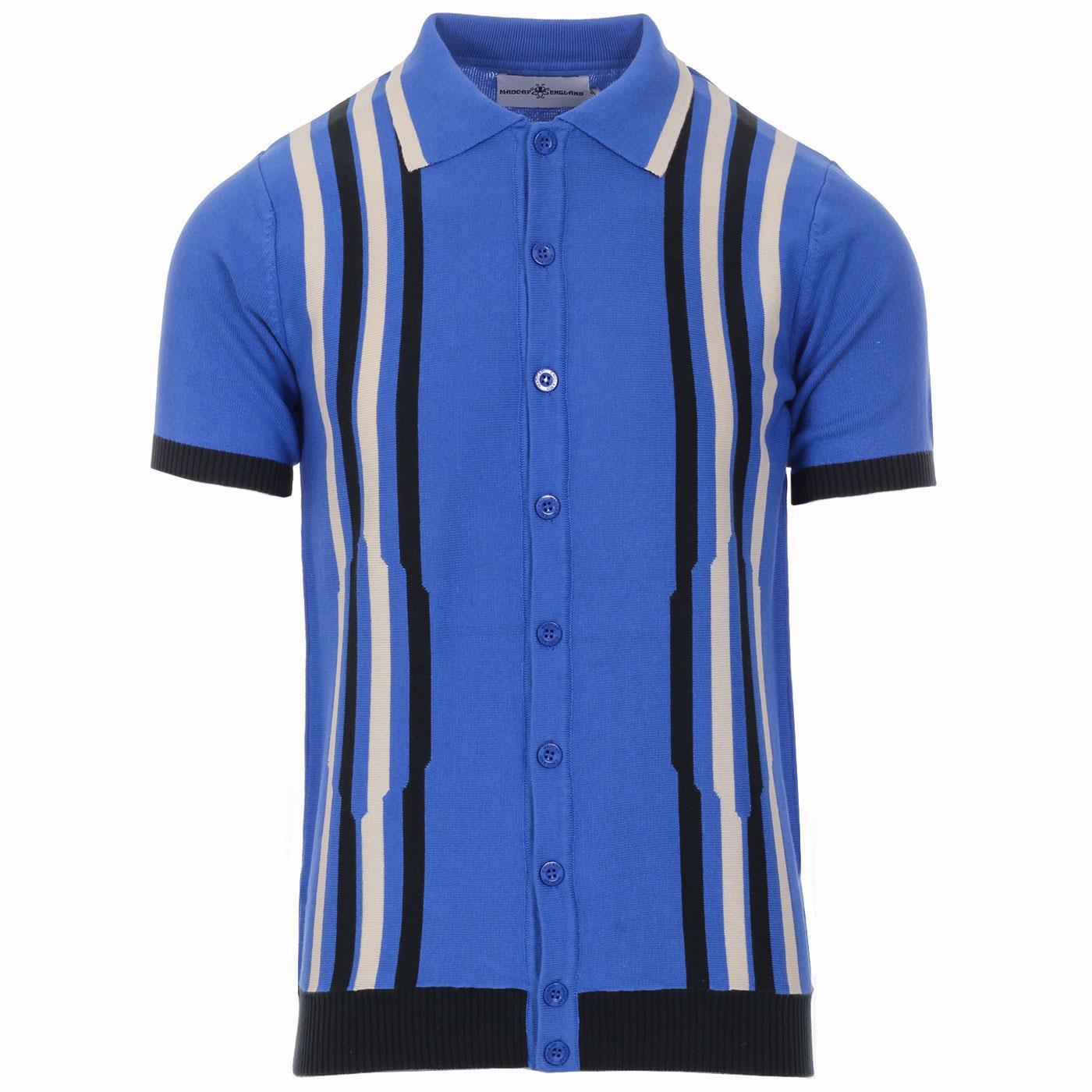 Shockwave MADCAP ENGLAND Mod Stripe Knit Polo (AB)