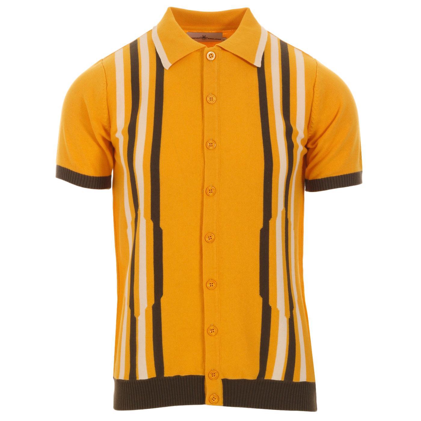 Shockwave MADCAP ENGLAND Mod Stripe Knit Polo (AY)
