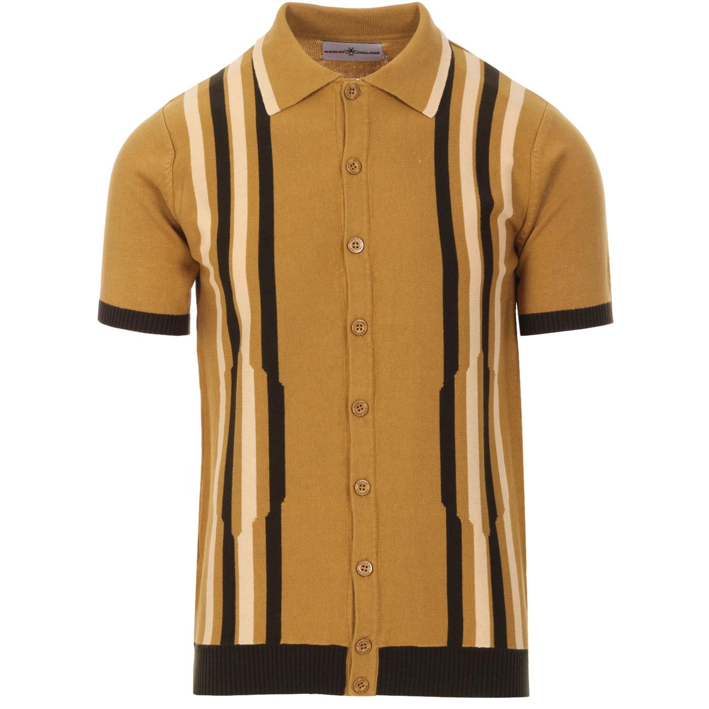 Shockwave MADCAP ENGLAND Mod Stripe Knit Polo (BM)