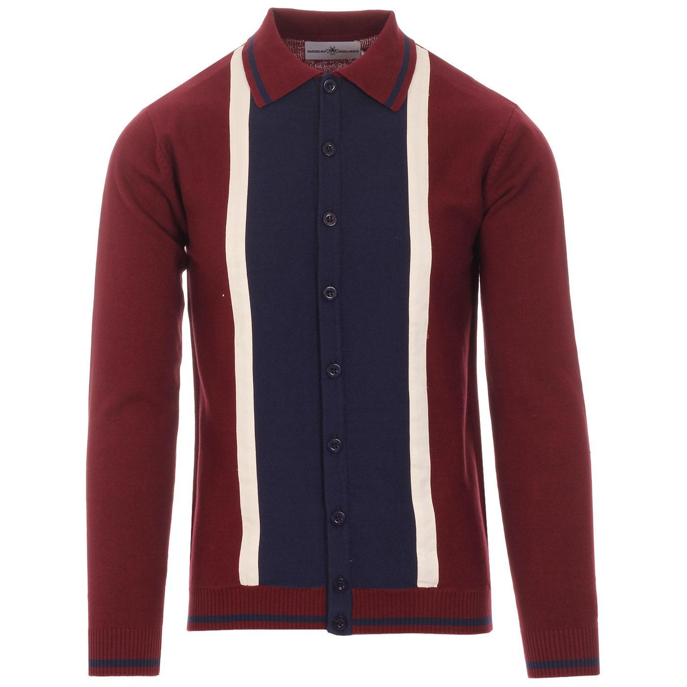 Marriott Suede MADCAP ENGLAND Mod Polo Cardigan Z