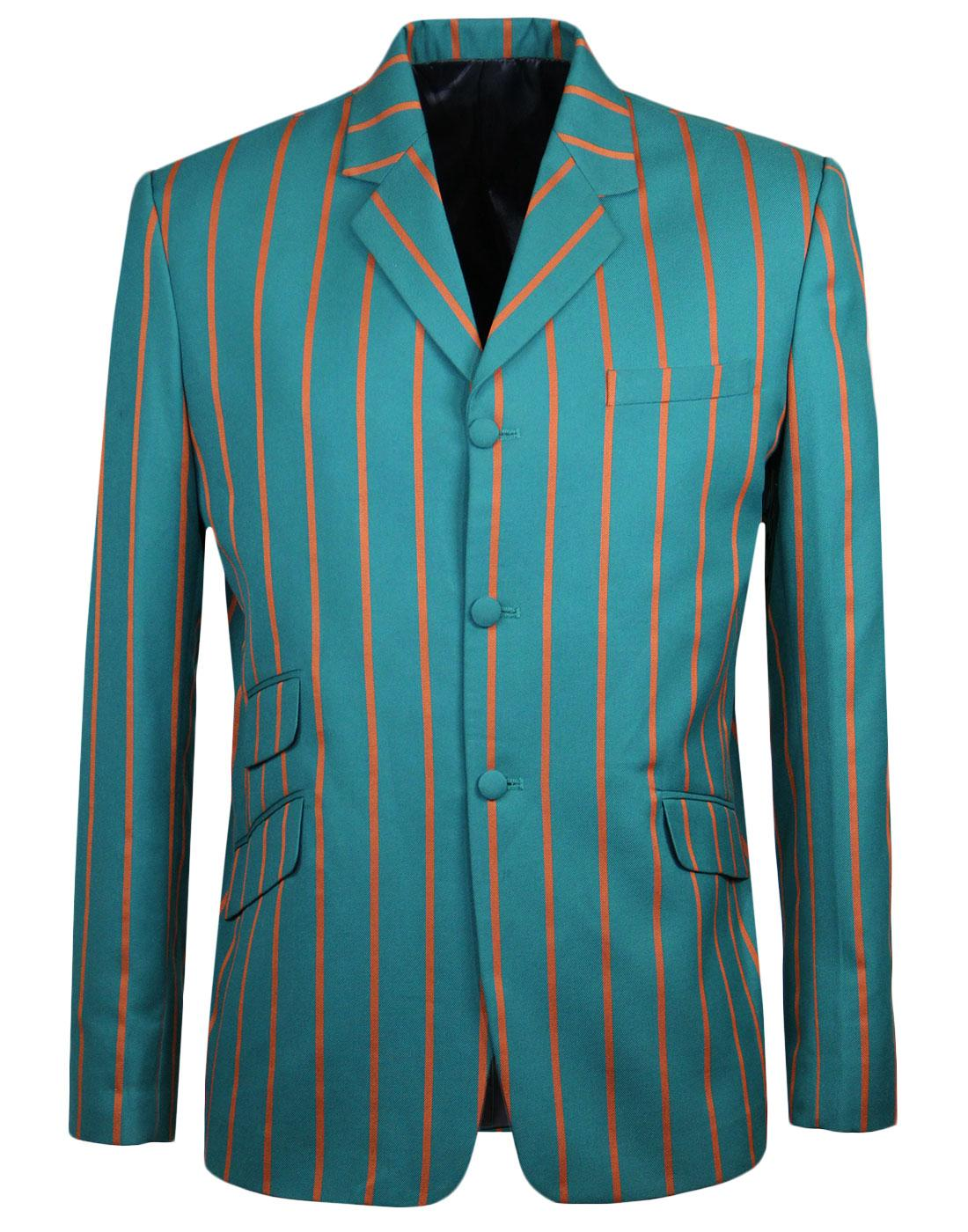 Offbeat MADCAP ENGLAND 60s Mod Boating Blazer TEAL
