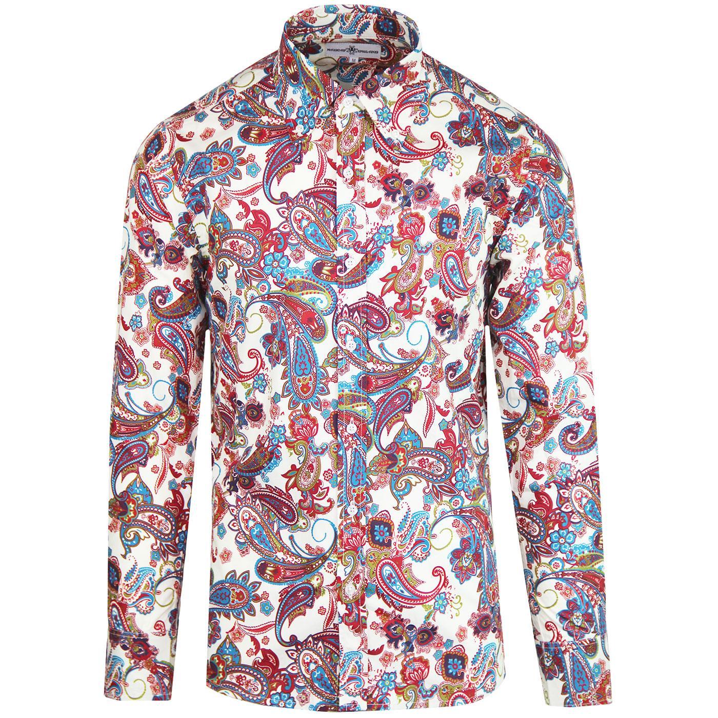 Trip Paisley MADCAP ENGLAND Retro Mod 60s Shirt