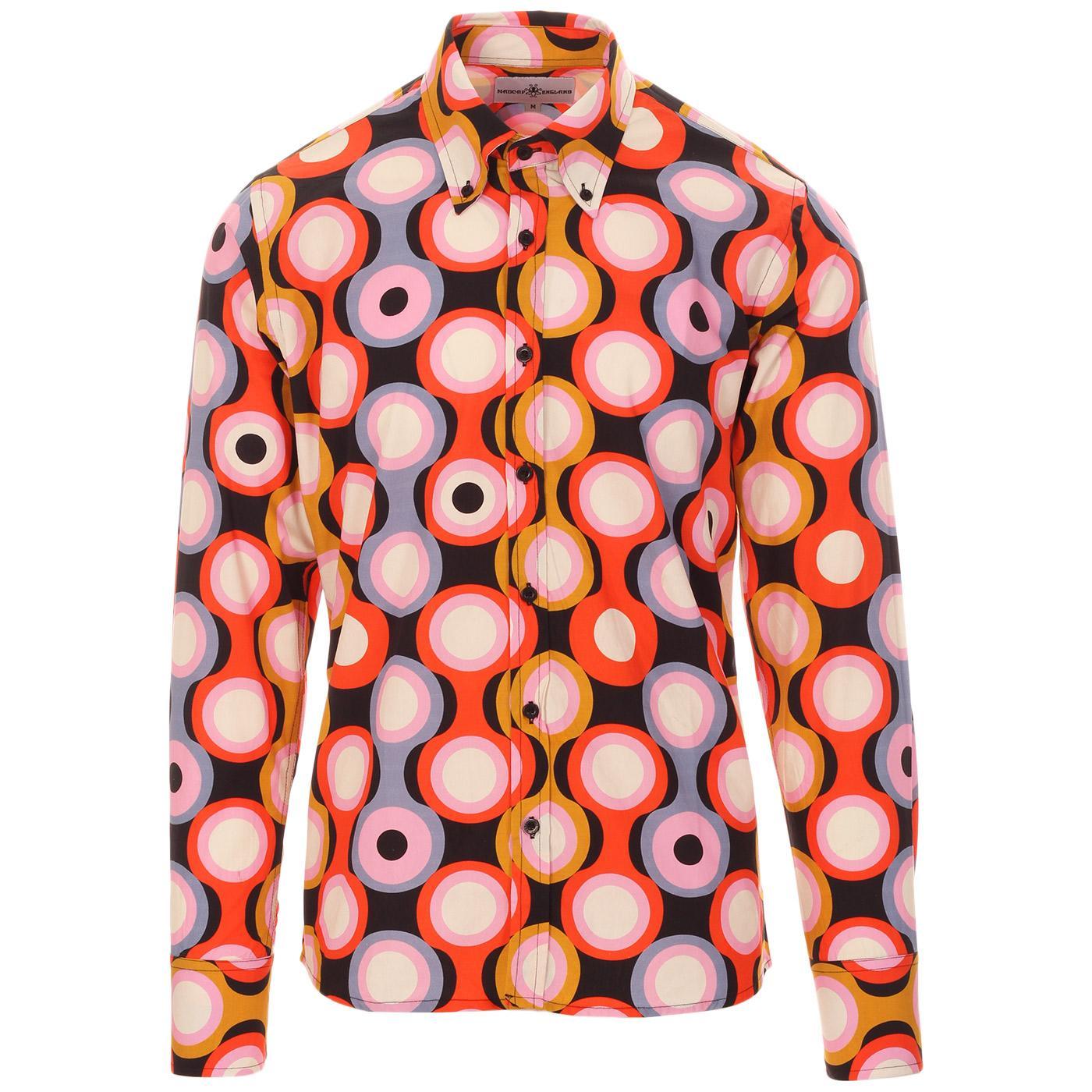 Trip Psych-Out Circle MADCAP ENGLAND Mod Shirt B/P