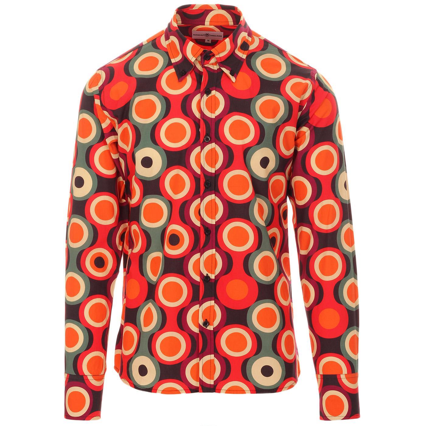 Trip Psych-Out Circle MADCAP ENGLAND Mod Shirt B/R