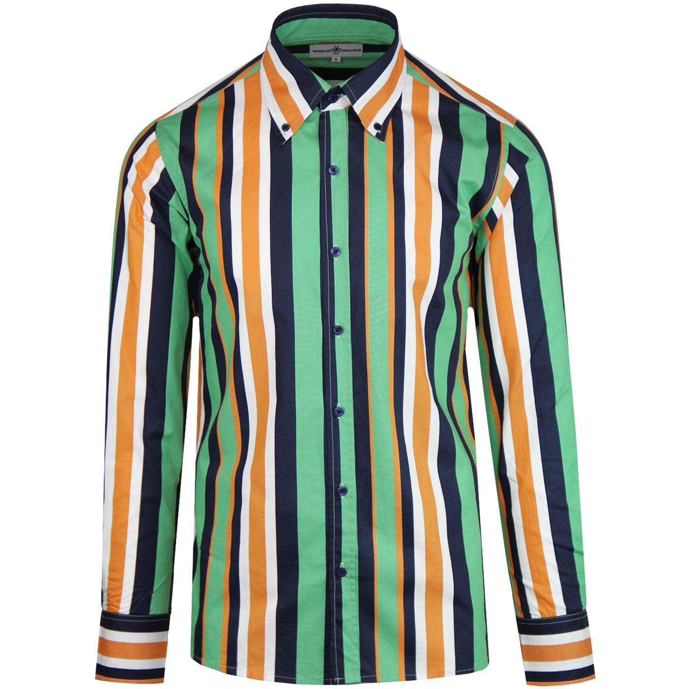 Trip Stripe MADCAP ENGLAND Retro 60s Mod Shirt