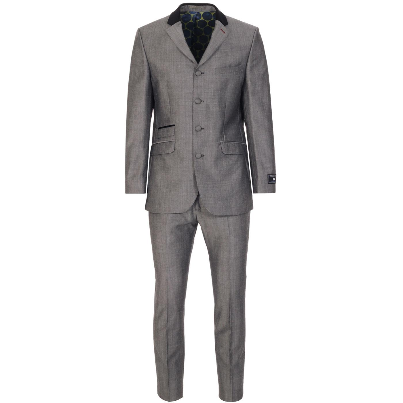 MADCAP ENGLAND 1960s Fab 4 Button Suit in Silver