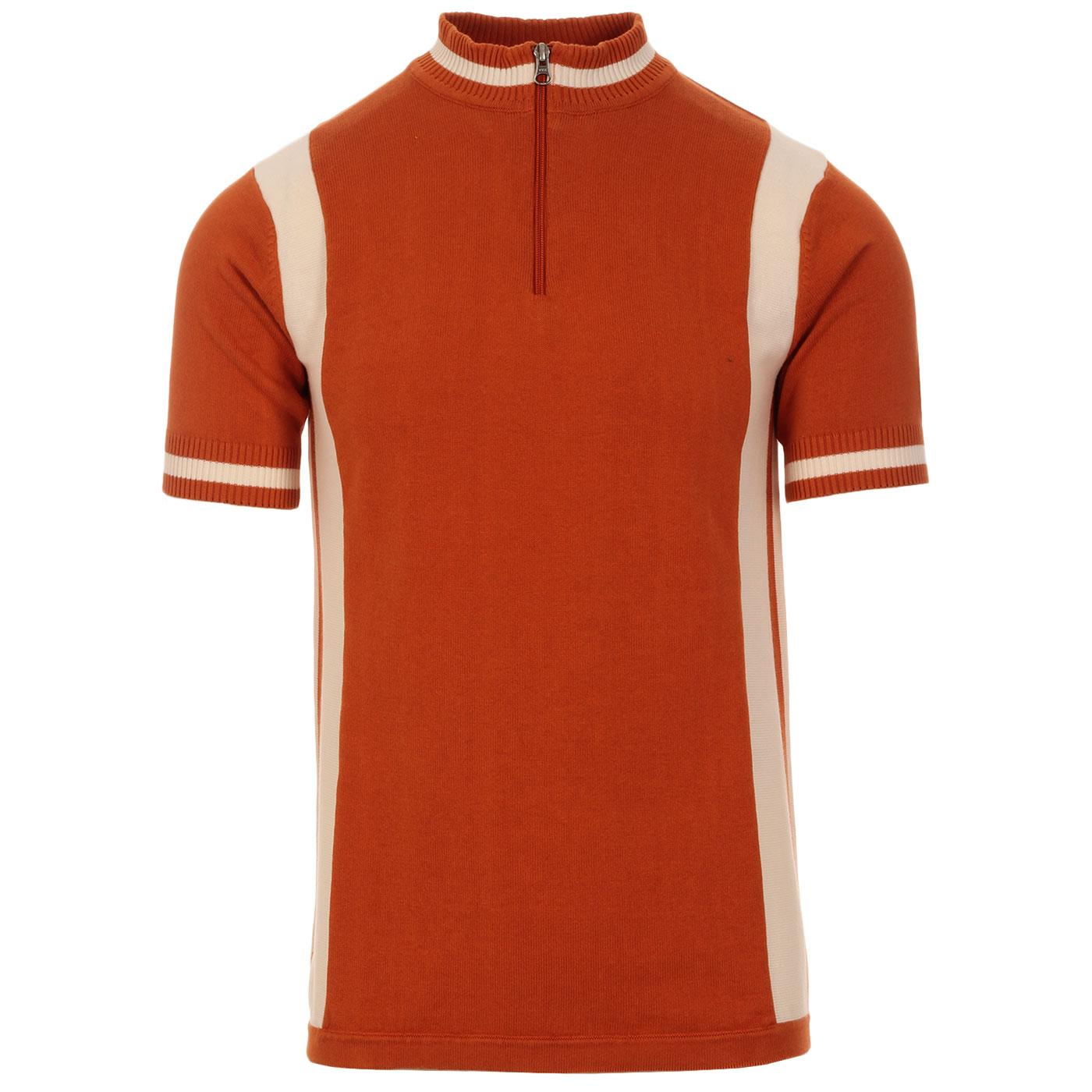Vitesse MADCAP ENGLAND Mod Knit Cycling Top (Rust)