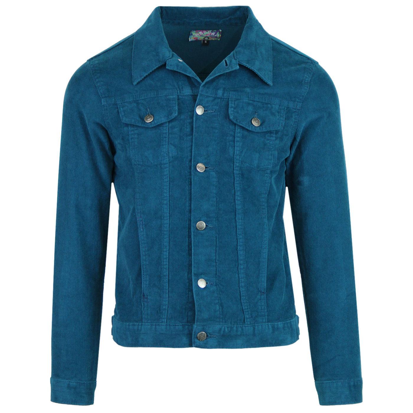 Woburn MADCAP ENGLAND Cord Western Jacket INK BLUE
