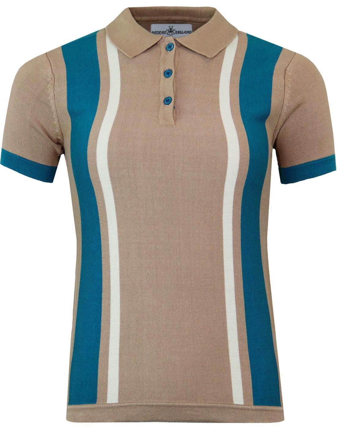 Fontella MADCAP ENGLAND 60s Mod Stripe Knit Polo