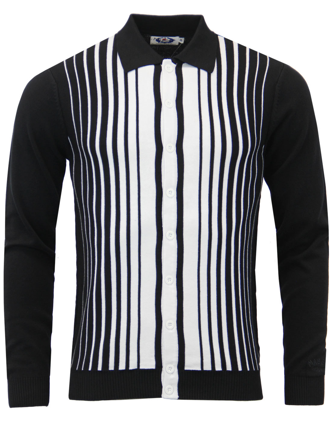 Everly MADCAP ENGLAND 60s Mod Stripe Polo Cardigan
