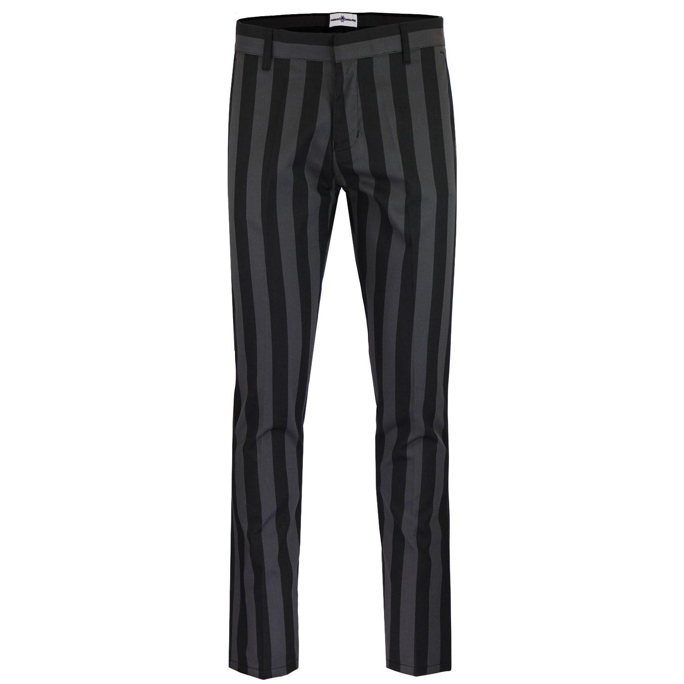 Inferno MADCAP ENGLAND Mod Slim Stripe Trousers BG