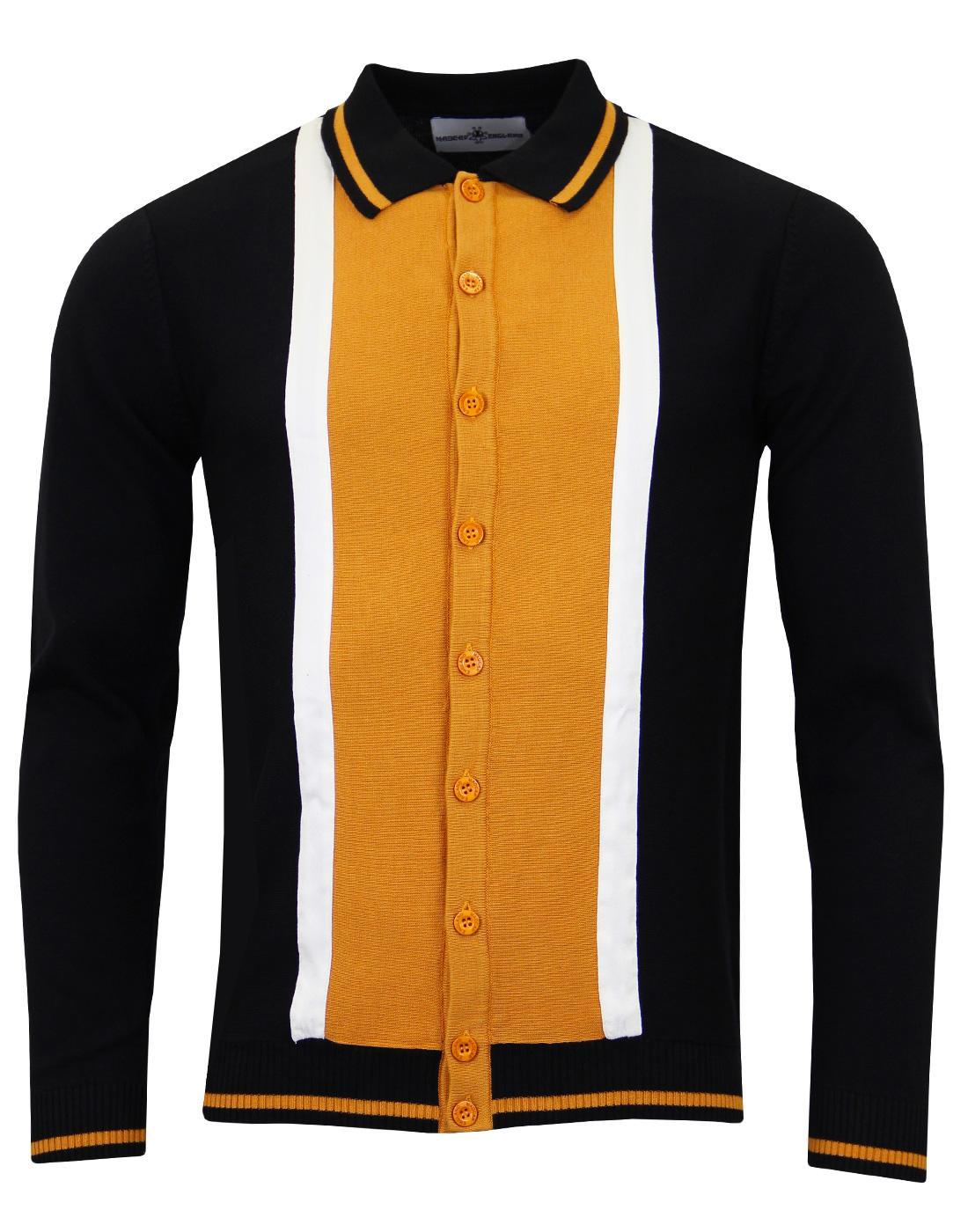 Marriott Suede MADCAP ENGLAND Mod Polo Cardigan BG