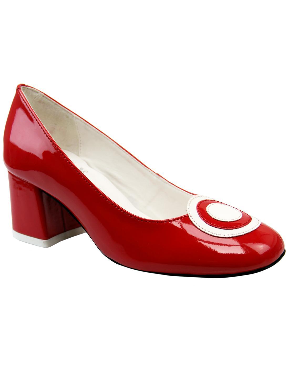 Penny MADCAP ENGLAND 60s Mod Target Toe Shoes