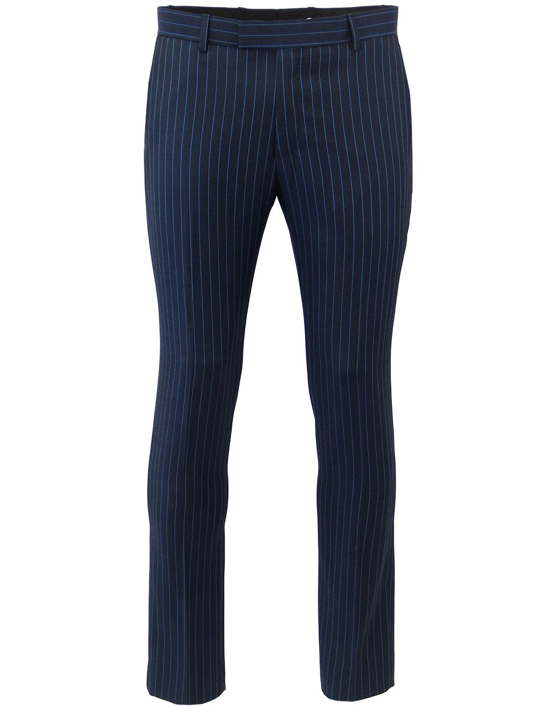 MADCAP ENGLAND Electric Pinstripe 60s Mod Trousers