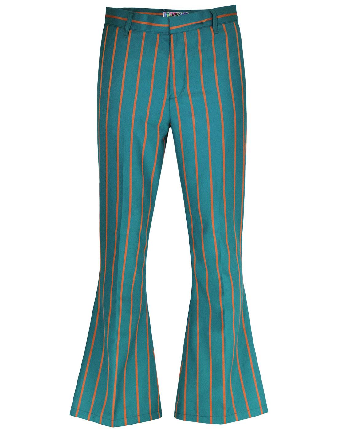 Relic MADCAP ENGLAND Stripe Bellbottom Trousers