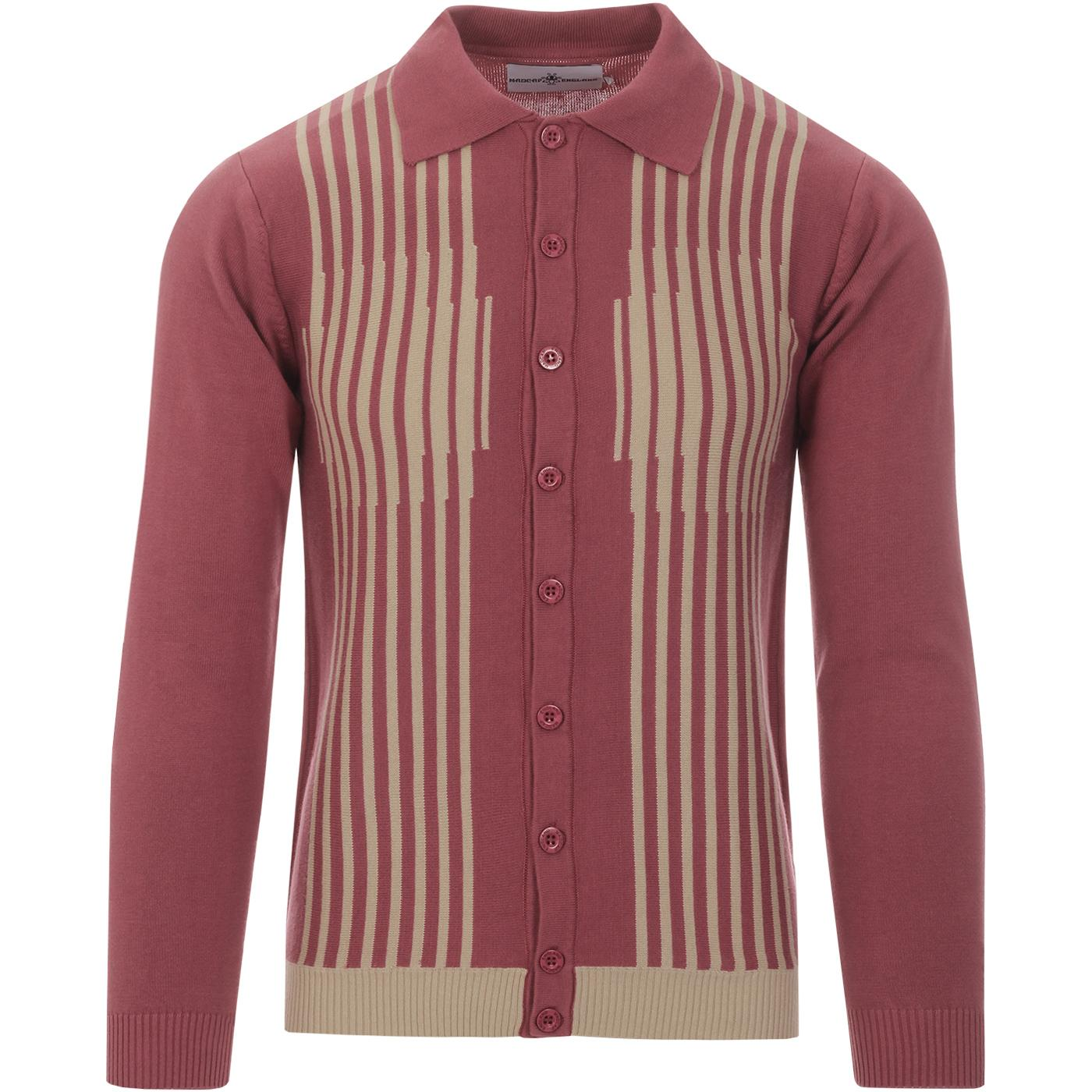 Kinetic MADCAP ENGLAND Mod Stripe Polo Cardigan