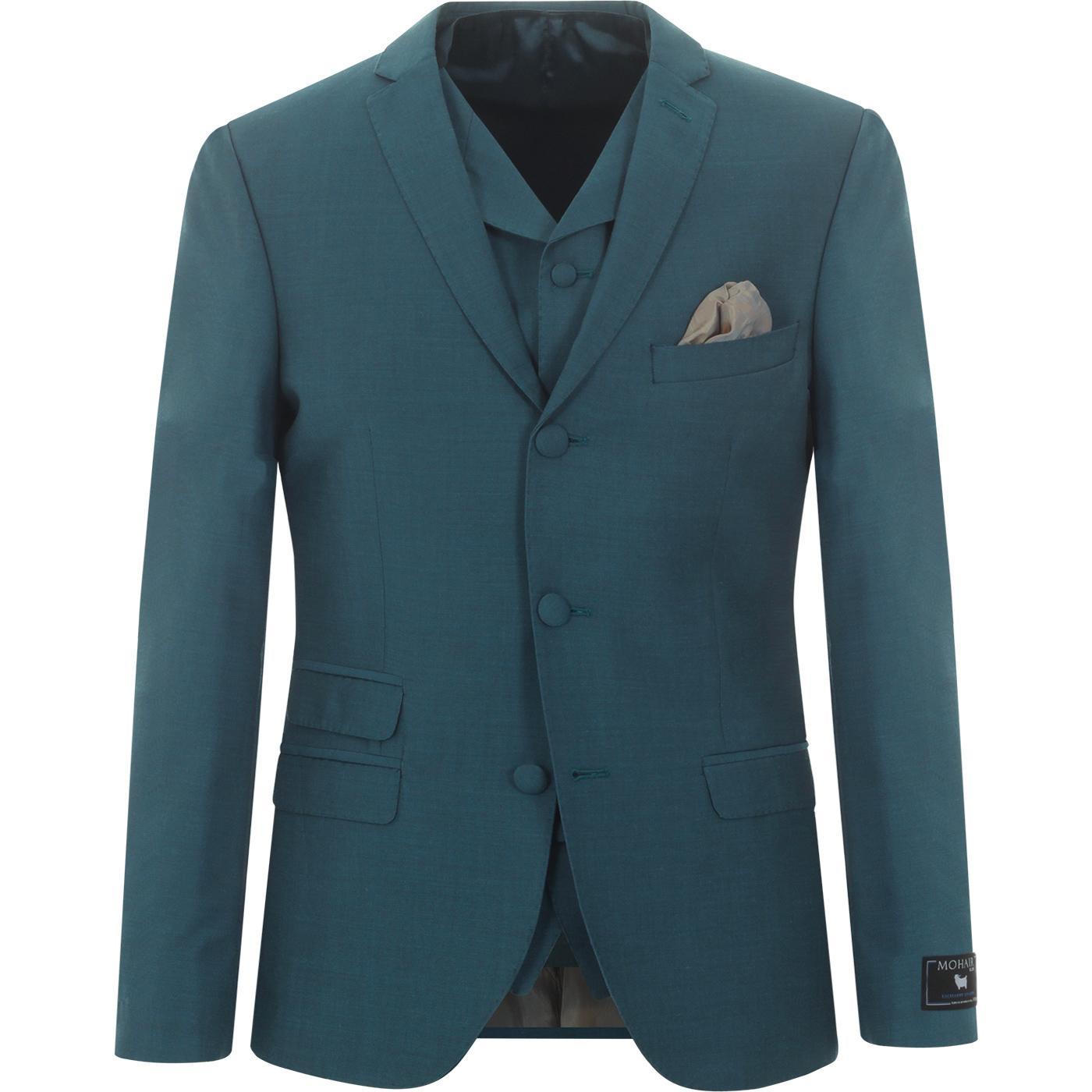 MADCAP ENGLAND Mod Mohair Tonic Suit Jacket (Teal)