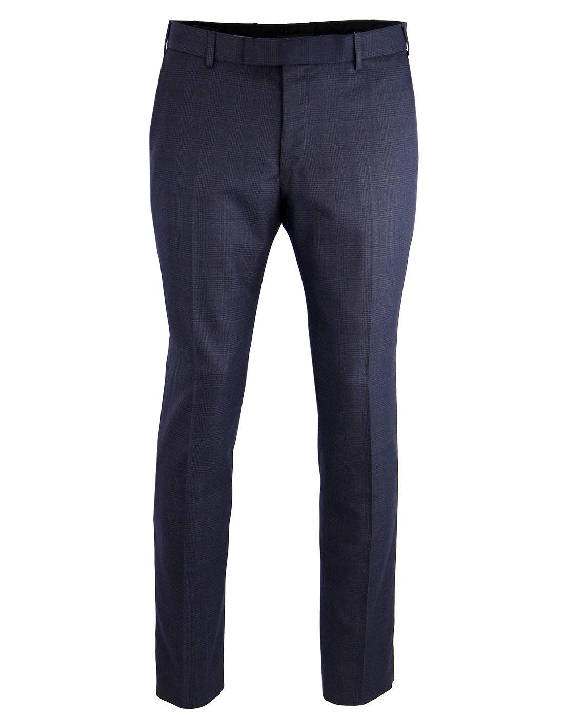 MADCAP ENGLAND Mod Check Retro Slim Fit Trousers