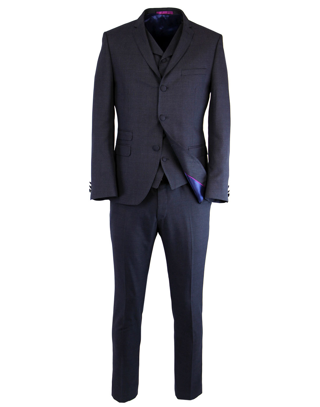 MADCAP ENGLAND Retro Mod 2 or 3 Piece Suit - Blue