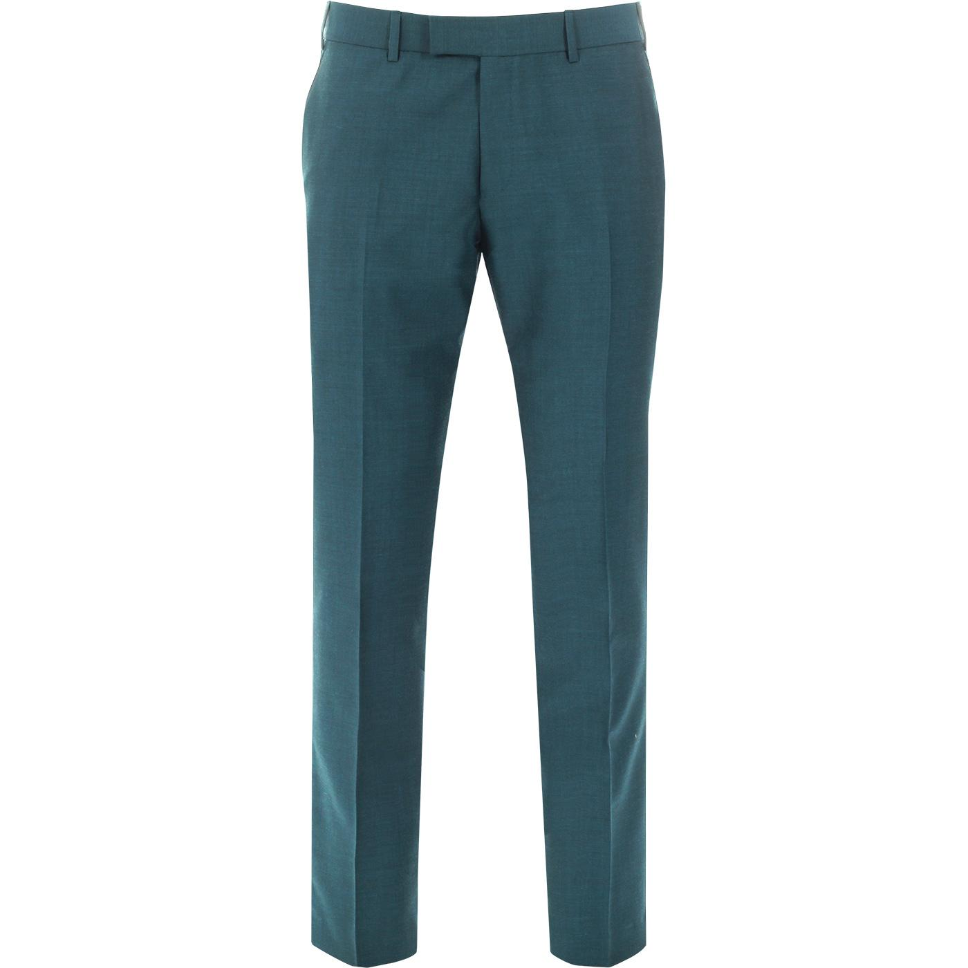 MADCAP ENGLAND Mod Mohair Tonic Trousers (Teal)